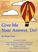 Give Me Your Answer Do by Brian Friel